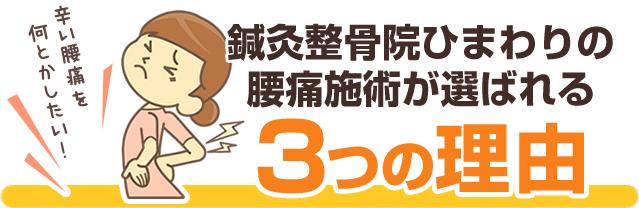 横須賀整骨院ひまわりの腰痛施術が選ばれる3つの理由