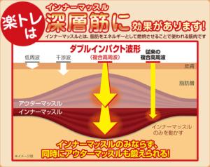 横須賀市北久里浜の鍼灸整骨院ひまわり 楽トレの効果説明画像
