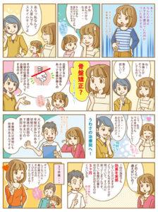 横須賀市北久里浜の鍼灸整骨院ひまわり 骨盤矯正漫画